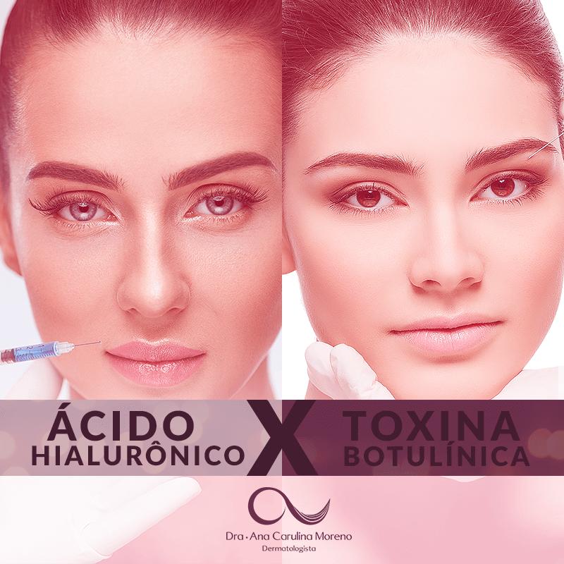 Diferença de Preenchimento e Botox